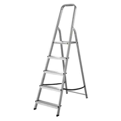 WERNER 5 TREAD ALUMINUM STEP LADDER (74005)