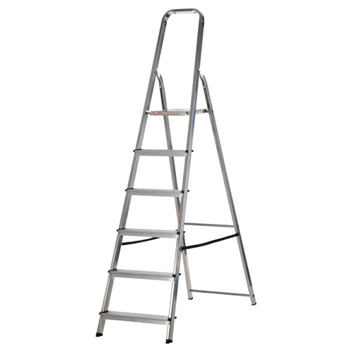 WERNER 6 TREAD ALUMINUM STEP LADDER (74006)