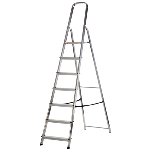 WERNER 7 TREAD ALUMINUM STEP LADDER (74007)