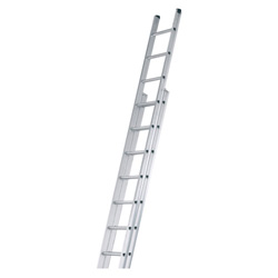WERNER ALUM 2PCE EXTENSION LADDER  17 RUNG (4.93M - 8.83M)