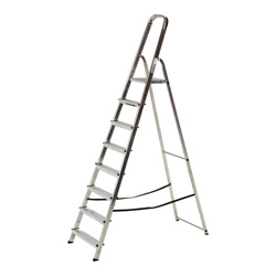 WERNER 8 TREAD ALUMINUM STEP LADDER (74008)