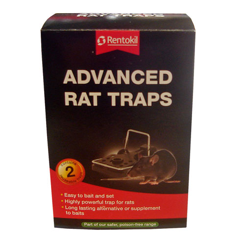 FR60 RENTOKIL ADVANCED RAT TRAP TWIN PACK X6