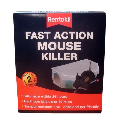 PSF135 RENTOKIL FAST ACTION MOUSE KILLER X6
