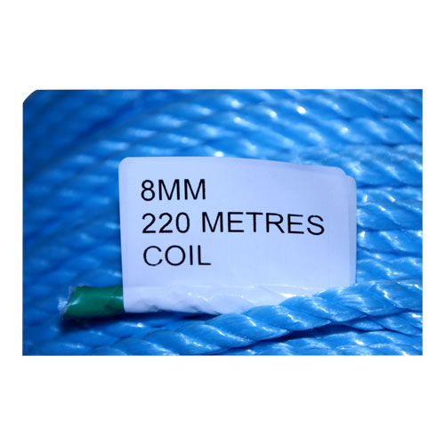 COIL BLUE POLY ROPE 220M X 8MM