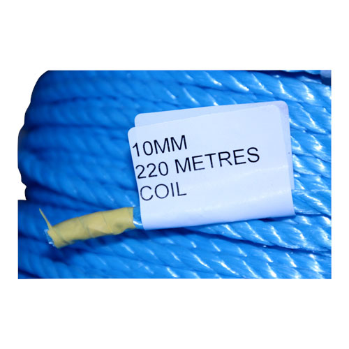 COIL BLUE POLY ROPE 220M X 10MM