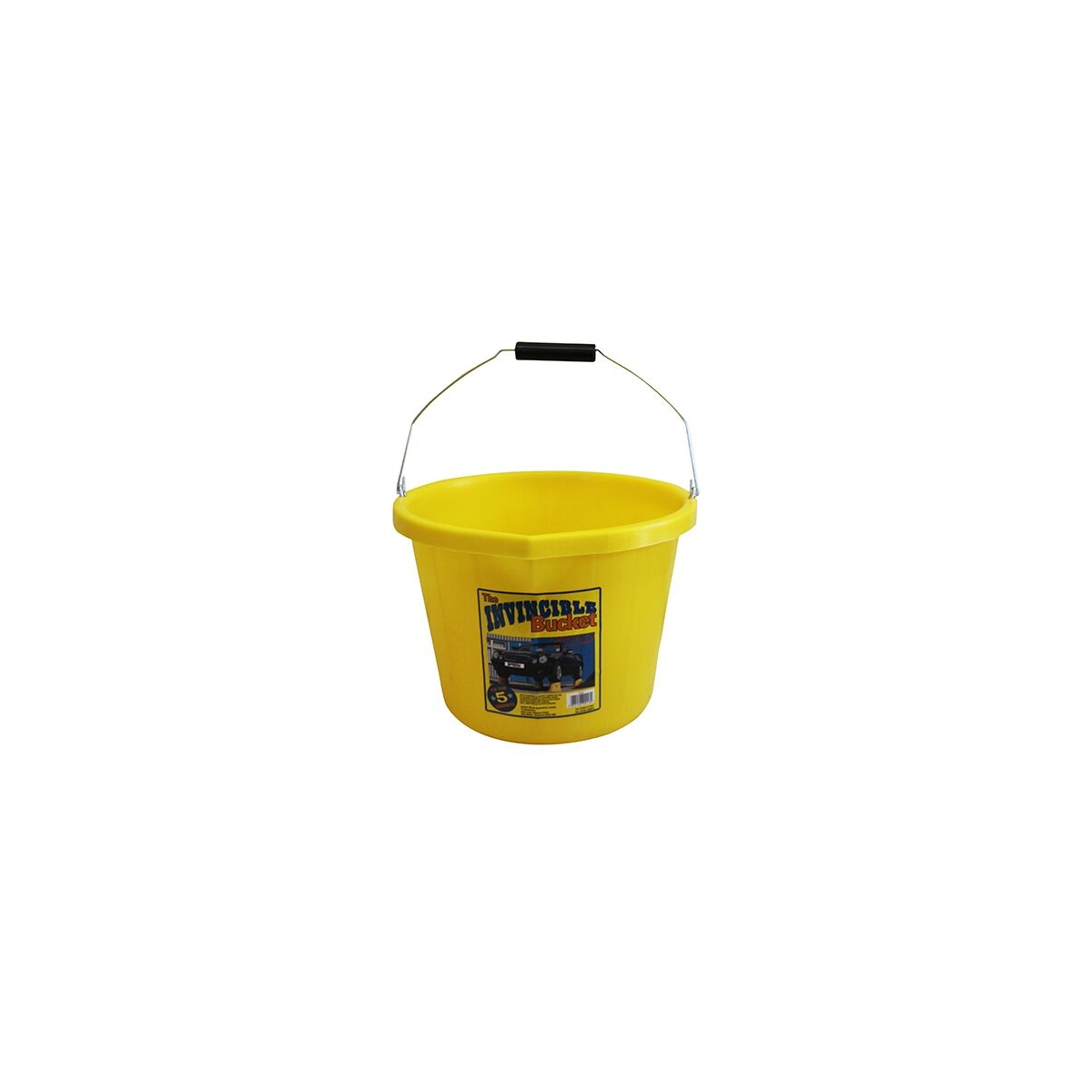 INVINCIBLE 3 GALLON YELLOW HEAVY DUTY BUCKET (PB1004-Y)