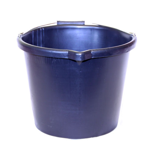 BLACK RUBBER 3 GALLON  BUCKET (RAL013)