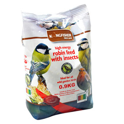 KINGFISHER ROBIN FEED WITH INSECTS 0.9 KG (BFWF02)