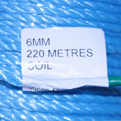 COIL BLUE POLY ROPE 220M X 6MM