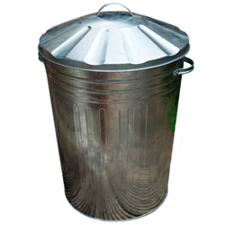 GALVANISED DUSTBIN C/W LID