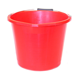 RIAAR 3 GALLON RED BUILDERS BUCKET (RAL014)
